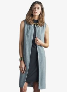 Kaden Vest in Heather Grey