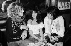 Robert Plant, Linda Ronstadt and Ron Wood