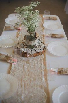 Rustic Burlap Wedding Decorations - Deer Pearl Flowers