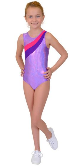 """Our Girl's Rhinestone My Little Pony Leotard is made from premium Nylon/Spandex fabric. We use a shimmering Lilac Hologram fabric that is made to hold up at a high level of physical activity. Features a sparkling crystal rhinestone """"cutie mark"""" on the back! Ideal for dance, gymnastics and other performance practices."""