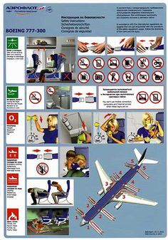Aeroflot B 777 Safety Card