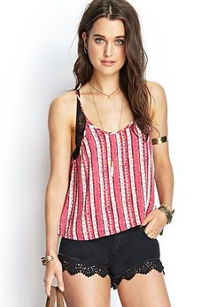 Painted Stripe Cami | FOREVER21 - 2000061278