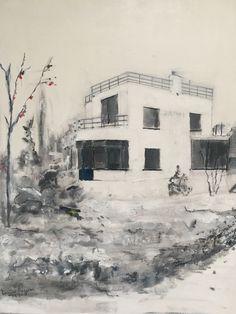 Schilderij van Villa Johanna Jutphaas, Willem van Rossem