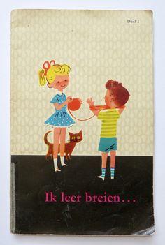 Estas ilustracionesencantadoraspertenecen a un libro holandés que se titula Aprendo a tejer  y enseñ...