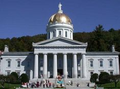 Photo: the Vermont State House (Capitol) in Montpelier, Vermont. Credit: Matthew Trump; Wikimedia Commons. Arizona State Capitol, Capitol Usa, U.s. States, United States, Montpelier Vermont, Washington County, Mountain States, Capitol Building, Usa