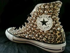 I NEED THEESE Studded Converse