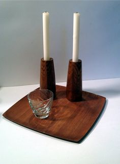 Danish Modern Vintage Candle Holders by VintageLindyLou on Etsy