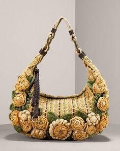 BOLSO DE FLORES TEJIDO A CROCHET PASO A PASO | Patrones Crochet, Manualidades y Reciclado