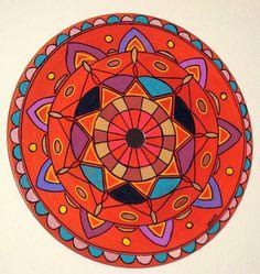 Mandala Painting on upcycled 12 inch vinyl record - for both indoor and outdoors. Bala Thiagarajan, 2012. www.artbybala.com
