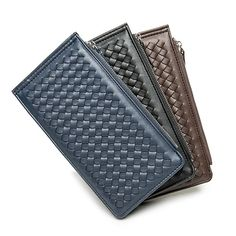 Sale 18% (16.1$) - Men Women PU Leather Solid Multicard Long Wallet Card Holder Purse With 3 Colors