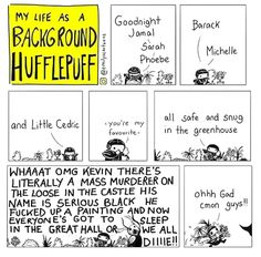 Can't a Hufflepuff just have a quiet night in with his plants? My Life as a Background Hufflepuff Harry Potter Comics, Harry Potter Love, Harry Potter Universal, Harry Potter Fandom, Harry Potter Memes, James Potter, Drarry, Background Slytherin, Percy Jackson