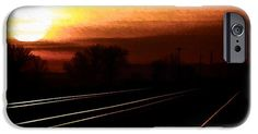 """Now available, my popular artwork """"Sunrise Triple Track"""" is available on several makes and models of cell phone cases. Choose iPhone 6, iPhone 6 Plus, iPhone 5/5S, iPhone 5C, iPhone 4/4S, Galaxy S5 or Galaxy S4."""