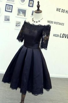Lovely Prom Dress,Short Prom Dresses,Black Homecoming Dress,off the shoulder Party Dress