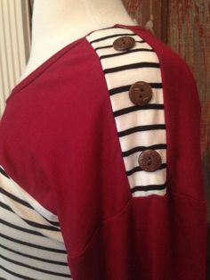 STRIPE TUNIC WITH BUTTONS