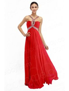 Impressive A-Line Straps Floor Length Chiffon Red Backless Evening Dress with Crystals COVF14007 $135.00 evening dress, evening dress, evening dress, evening dress, evening dress, evening dress