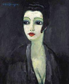 KEES VAN DONGEN (1877-1968): TAMARA, LA MUSE DU PEINTRE (c.1913)