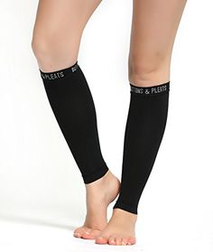 Calf Compression Sleeve for Women  Men  Footless Leg Sleeves Socks  Boosts Circulation  Reduces Fatigue  Eases Shin Splints 1 Pair Black SM *** Click image to review more details.Note:It is affiliate link to Amazon.