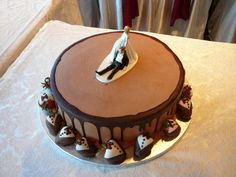 Just the chocolate buttercream with ganache on the edge and down the sides...not the topper or strawberries