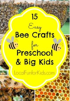 I've been wanting to write about bumble bee crafts and kid's activities for a while, and I'm really excited to share these ideas with you.  This post has all of the best preschool and children's crafts about bees that I could find.  Now, they're all in one place! But, before we get to that, I