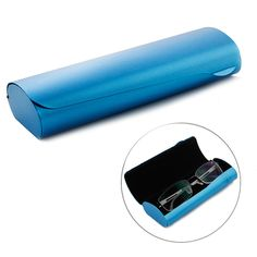 Portable Eyeglasses Case Matte Hard Shell Frosted Spectacles Protect Box Blue #Unbranded