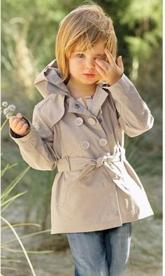 40 Cute Pictures Of Fashionable Kids – Fashion – Trench Coat