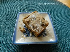 Skinny Sweets Daily: Skinny White Bean Blondies. A quick and easy treat. Enjoy every bite! YUM!