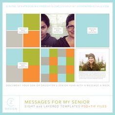 Messages for My Senior Album Set- Cathy Zielske - PSE/PS Templates- LT265592- DesignerDigitals