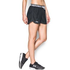 Under Armour Women's UA Play Up Mesh Short ($30) ❤ liked on Polyvore featuring…