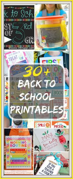 Free Back to School printables are here! From cute teacher gift tags to worksheets and lots of first day of school signs you are sure to love. via @thetypicalmom