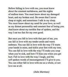 fall in love with these tiny parts of me and then fall in love with me as a whole - nataliadiazboj
