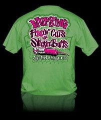 Sweet Thing Funny Nurse Fixin Cuts Neon Green Girlie Bright T-Shirt | SimplyCuteTees