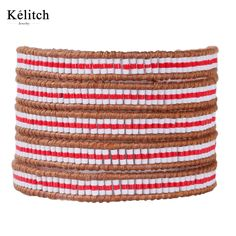 >> Click to Buy << KELITCH Red White Mixed Crystal Seed Beads Multilayers 5 Wrap Genuine Leather Strand Bracelets For Women Jewelry&Gifts&Bijoux #Affiliate