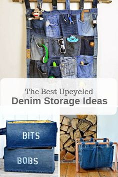 The Best Upcycled Denim Storage Ideas and how to make them.