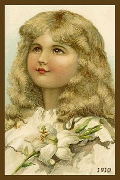 Olde America Antiques | Quilt Blocks | National Parks | Bozeman Montana : Children - Young Girl Iris