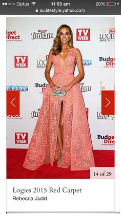 Peach lace maxi dress. Rebecca Judd
