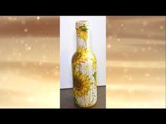 decoupage shabby chic with 2 step crackle varnish DIY ideas decorations craft tutorial / URADI SAM - YouTube
