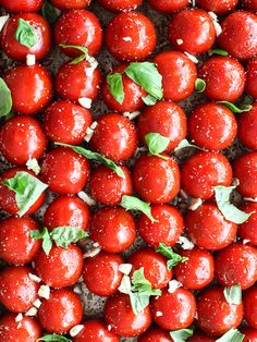 Simple Roasted Tomatoes #recipe on foodiecrush.com