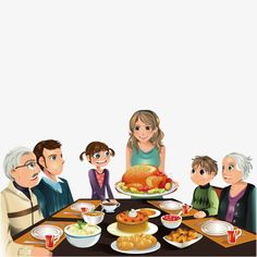 Eat a family, Family, Eat, Dinner PNG and Vector