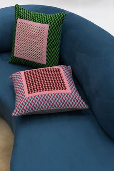 Turner and Whitmore Cushions by Jonathan Saunders for The Rug Company #cushion #colour #pattern #homedecor #interiordesign #jonathansaunders