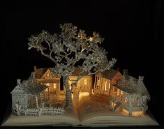 Illuminated Book Sculptures Form Highly Detailed Magical Worlds - Artist Su Blackwell utilizes beloved novels as an uncommon canvas and builds upward to create bewitching book sculptures. Arte Pop Up, Enchanted Book, Grand Art, Papier Diy, Altered Book Art, Portfolio Book, Portfolio Layout, To Kill A Mockingbird, English Artists