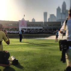 Rory Mcilroy hitting his last approach shot in the 18th at the Omega Dubai Desert Classic (apologies for the Rory show) #dubai #abudhabi #golf #uaegolf #uae #emirates #golfer #golfing #mydubai #socialgolf #sun #happy #like #smile #instagood #instagolf #lo