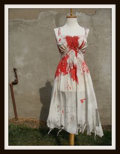 Custom Made Bloody Zombie Costume Full Slip Lingerie Adult Halloween, Halloween Party, Halloween Costumes, Zombie Costumes, Halloween Ideas, Fancy Dress, Dress Up, Zombie Walk, Walk This Way