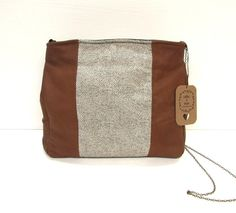 This is a genuine leather and genuine silk shoulder bag. The silk fabric is cotton -- just so beautiful, & different. *This bag is ready to ship & will ship out in days* Lambskin Leather, Leather Bag, Leather Purses, Leather Handbags, Brass Chain, Handmade Bags, Silk Fabric, Fabric Material, Leather Shoulder Bag