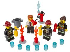Put out the fires in LEGO® City!  Add to top of cupcakes for Lego City - Fireman Birthday Party