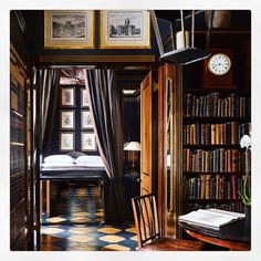 """THE BOUTIQUE HANDBOOK on Instagram: """"The Library Suite @blakeshotel - the world's first luxury boutique hotel. And where we wish we were staying this Bank Holiday weekend 💕…"""" Boutique Hotels London, Bank Holiday Weekend, Bookcase, Shelves, World, Luxury, Instagram, Home Decor, Shelving"""