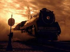 Proshots - Royal Hudson Steam Engine at Daybreak, Vancouver, British Columbia - Professional Photos