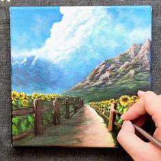 Landscape Edging, Landscape Art, Landscape Paintings, Landscape Photography, Landscape Architecture Model, Architecture Collage, Architecture Drawing Sketchbooks, Easy Canvas Art, Canvas Painting Tutorials