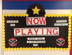Movie themed classroom board!