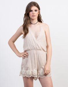 For those lazy Sundays where you need to get up for brunch. This taupe Crochet Halter Romper will make you look effortlessly amazing and put together. Pair this romper with some lace-up heels for the ultimate one-piece wonder look.