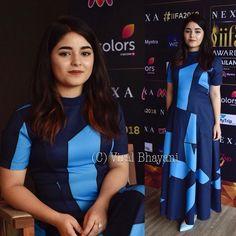 Sweet #zairawasim for #iifa2018 Bollywood Celebrities, Bollywood Actress, Hijab Fashion, Fashion Outfits, Girl Fashion, Zaira Wasim, A Line Kurti, Preety Girls, Indian Jewellery Design
